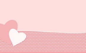 Picture texture, hearts, pink background
