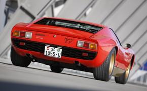 Picture Color, Auto, Lamborghini, Machine, Classic, 1971, Lights, Car, Supercar, Back, Lamborghini Miura, P400, Lamborghini Miura …