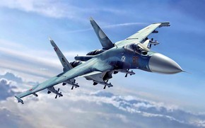 Wallpaper figure, fighter, deck, the fourth generation, Su-33, Navy, Flanker-D, Soviet/Russian
