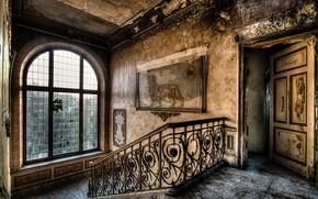 Wallpaper house, ladder, background