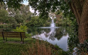Picture nature, Park, beauty, fountain