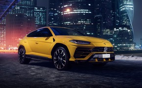 Wallpaper Lamborghini, Moscow-City, Urus, Moscow-City, 2018