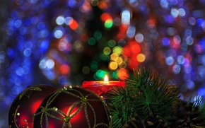 Wallpaper background, holiday, toy, tree, new year, pair