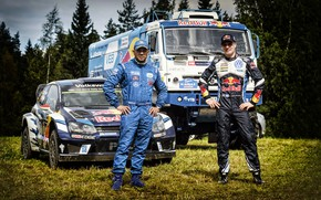 Wallpaper Latvala, WTR, Latvala, Sport, Polo, Kamaz, Machine, Volkswagen Polo, Silk road, Auto, Racers, RedBull, Men, ...