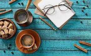 Picture background, coffee, sugar, cinnamon