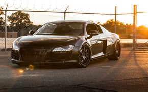 Picture machine, Audi, sports car, car, matte black