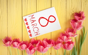 Wallpaper love, romantic, tulips, pink, March 8, gift, tulips, flowers