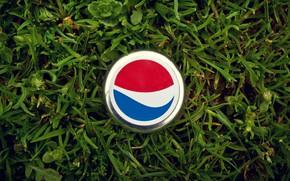 Picture grass, macro, tube, cover, cola, Pepsi, Pepsi, cap, Pepsi Cola