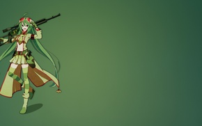 Wallpaper weapon, anime, Flygon Sniper, sniper, gun