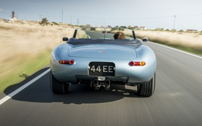 Picture road, machine, speed, Jaguar, Eagle, sportcar, Spyder, speed, british, Road, E-TYPE
