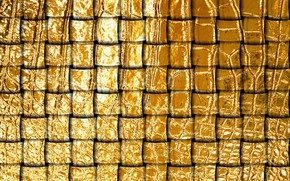 Picture texture, network, gold leather, leather tape