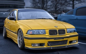 Picture yellow, design, BMW, car
