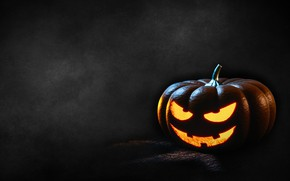Picture Halloween, Halloween, Jack, in the dark, hell of a grin, evil, pumpkin with eyes