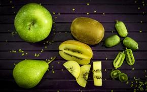 Picture Apple, kiwi, pear, fruit