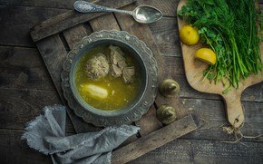 Picture Greens, Potatoes, Soup
