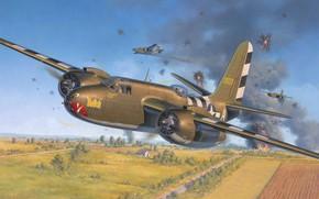 Picture A-20, USAF, Douglas, WW2, Havoc, Boston, art