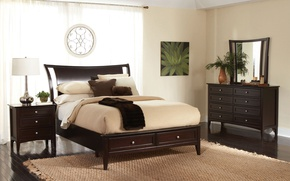 Picture furniture, lamp, bed, interior, mirror, bedroom