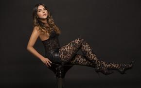 Wallpaper hair, Lina Rivera, beauty, legs, face, model, style