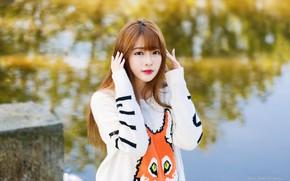 Picture photo, cute girl, asian girl, cute Asian girl, Please Please, Fei, Xin Xin