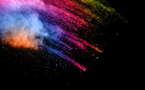 Wallpaper squirt, background, paint, black, colors, colorful, abstract, splash