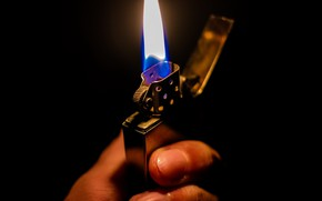 Picture macro, fire, lighter
