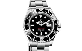 Picture time, arrows, watch, watch, chronometer, Rolex, white background, The Rolex Oyster Perpetual Sea-Dweller Ref