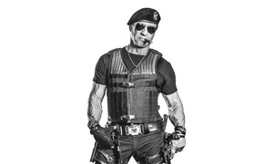 Picture pose, weapons, The Expendables, Sylvester Stallone, The expendables, Sylvester Stallone, Barney Ross