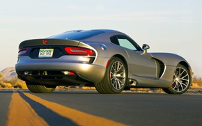 Picture Dodge, Viper, GTS, Road, Supercar, Silver