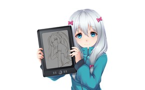 Picture look, background, figure, portrait, art, girl, Erromango-Sensei