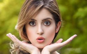 Picture eyes, girl, face, hands, slim, lips, beautiful, lean, Laura Marano, Laura Marano