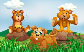 Picture Figure, Honey, weed, Bears