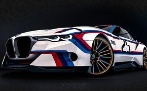 Picture Concept, Auto, Figure, Machine, BMW, Art, Hommage, Bavarian, BMW 3.0 CSL, Hommage R, BMW 3.0, …