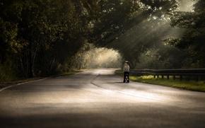 Picture road, bike, boy
