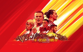 Picture wallpaper, sport, football, Manchester United, fans, coach, players