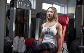 Picture model, workout, fitness, gym