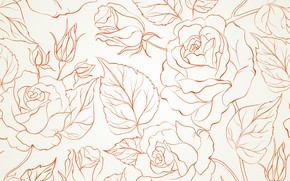 Wallpaper flowers, texture, background, rose, buds, seamless