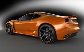Picture silver, Ferrari F430, ferrari, grey background, orange, the view from the side, Novitec Rosso, novitec-tulesto, …