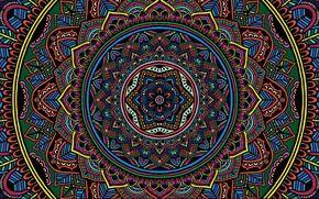 Picture colorful, texture, color, selective coloring, Mandala