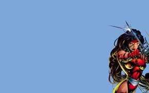 Picture girl, comic, marvel, Marvel Comics, ELEKTRA, Elektra Natchios, tridents