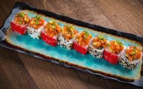 Picture food, figure, caviar, rolls