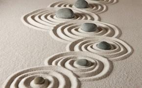 Wallpaper stone, sand, sand, stones, zen