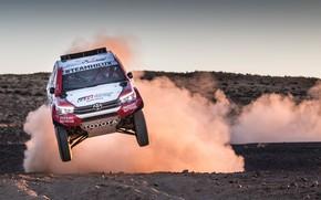 Picture Auto, Dust, Sport, Machine, Speed, Race, Toyota, Hilux, Rally, SUV, Rally, Sport, Toyota, Hilux, The ...