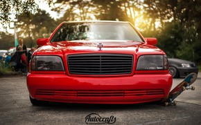 Picture red, Mercedes - Benz, w140, s320