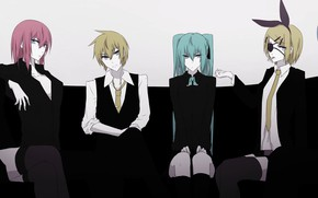 Picture girls, anime, art, guys, Vocaloid, Vocaloid, characters