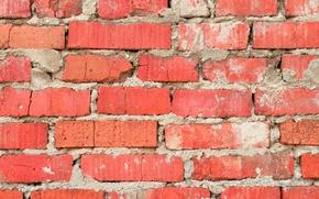 Picture wall, concrete, cement, Bricks