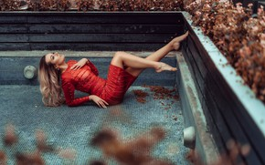 Picture pose, model, dress, legs, Olya Alessandra, Andreas-Joachim Lins