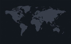 Picture the world, continents, earth, world map