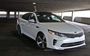 Picture lights, white, white, front, KIA, Optima, GT, Kia Optima GT