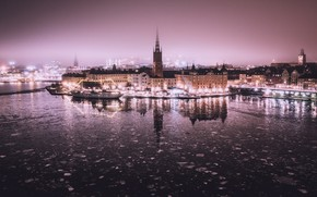 Picture the city, fog, Old Town, Stockholm