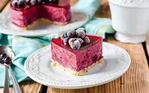 Wallpaper berries, cake, jelly, dessert